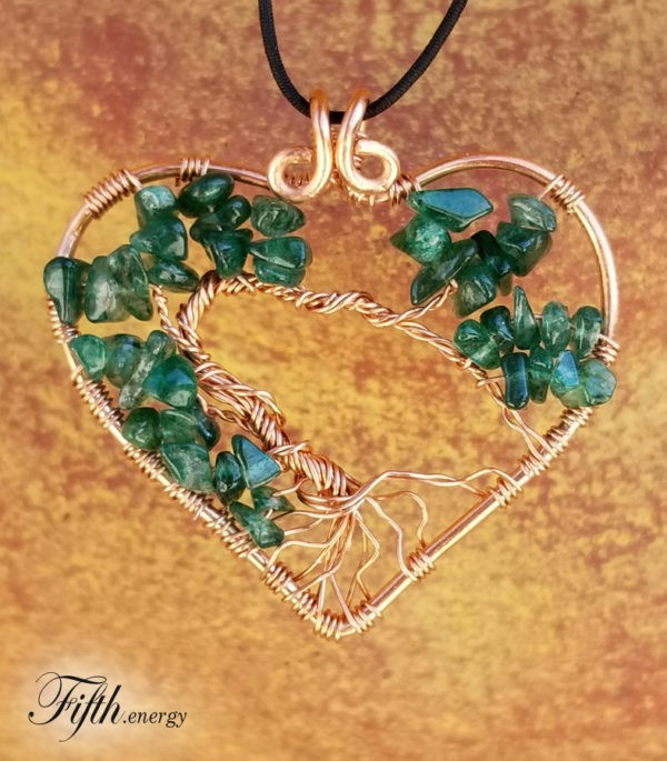 Fifth Energy Jewelry Tree of Life Heart Pendant Unique Gifts
