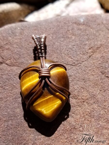 Fifth Energy Jewelry Tigers Eye Pendant Unique Gifts