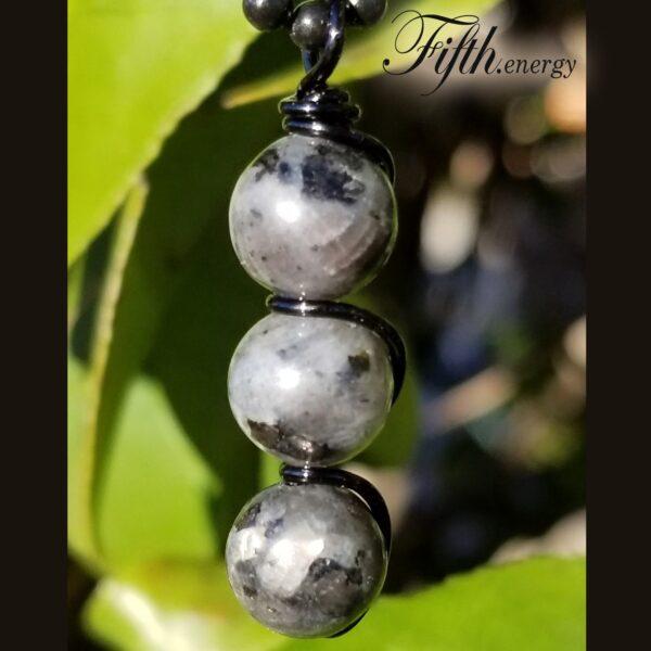 Larvikite Pendant Necklace Fifth Energy Jewelry