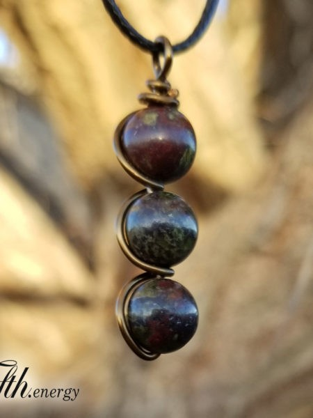 Dragons Blood Drop Pendant Necklace Fifth Energy Jewelry
