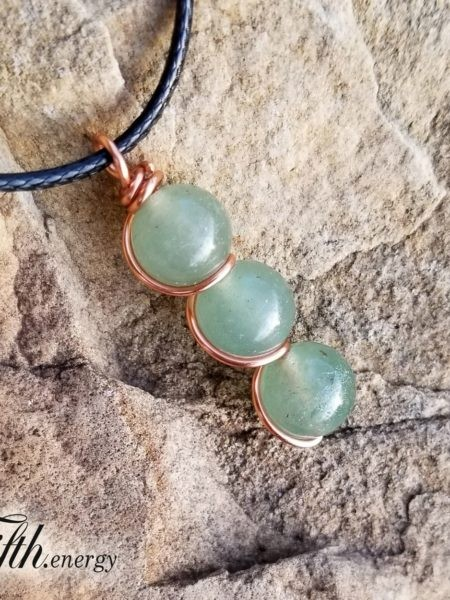 Green Aventurine Drop Pendant Necklace Fifth Energy Jewelry