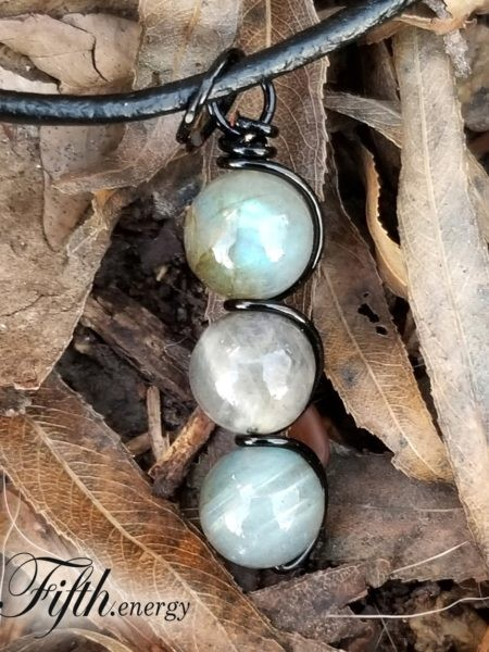 Labradorite Drop Pendant Fifth Energy Jewelry