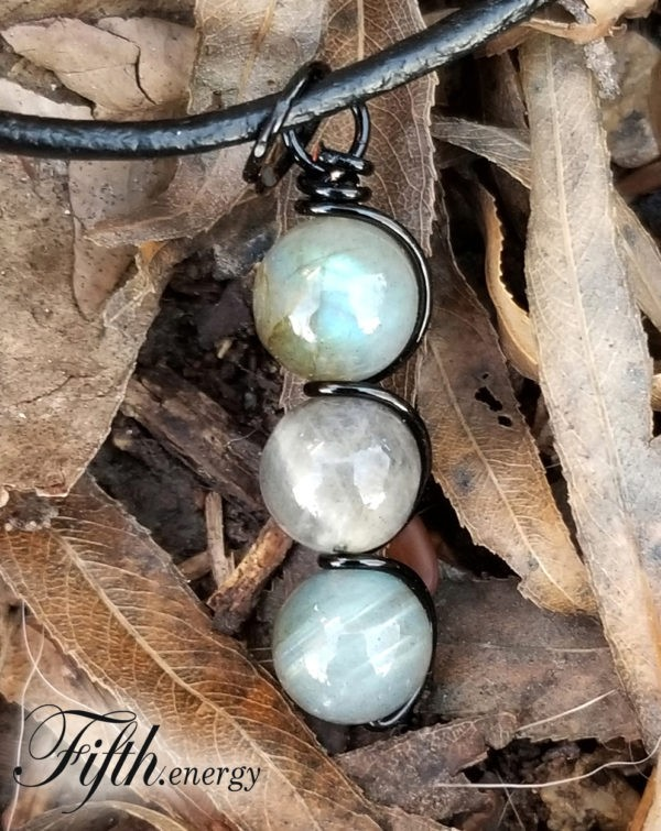 Labradorite Drop Pendant Fifth Energy Jewelry