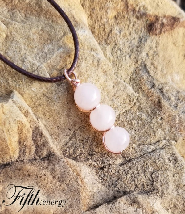 Rose Quartz Drop Necklace Fifth Energy Jewelry