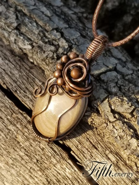 Petrified Wood Necklace Fifth Energy Jewelry