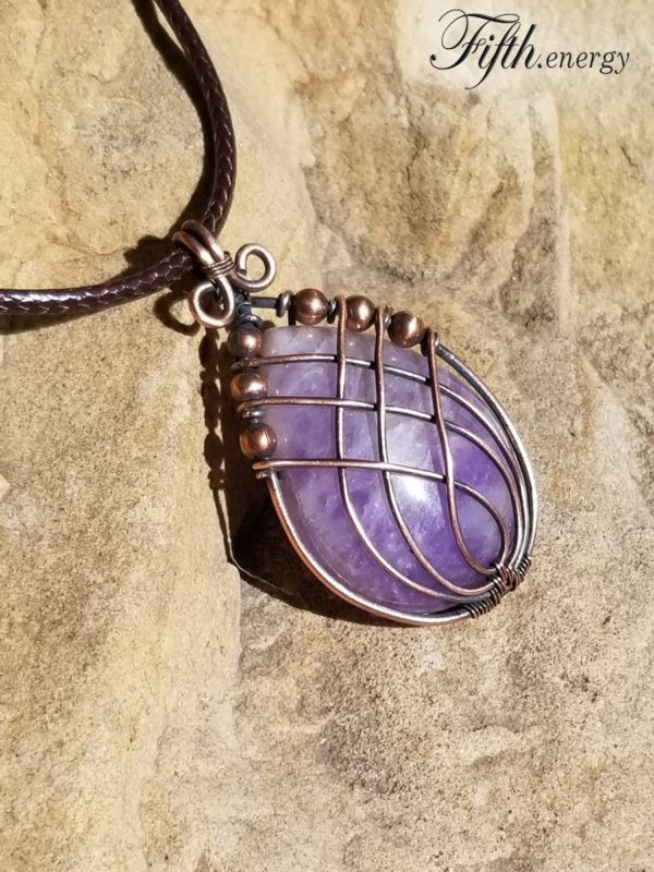 Amethyst Necklace Fifth Energy