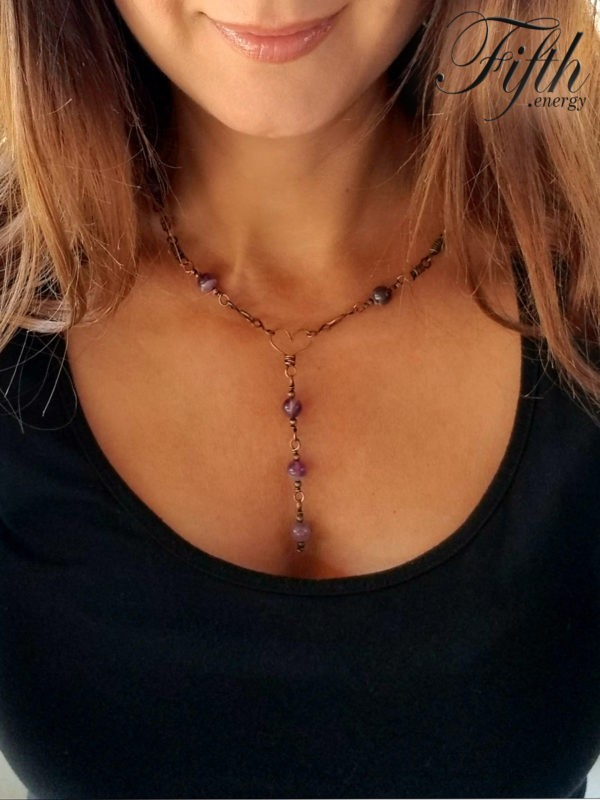 Amethyst Chain Fifth Energy Jewelry