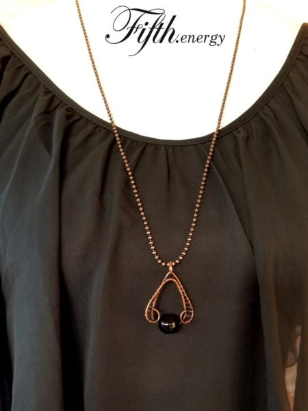 Rainbow Obsidian Copper Necklace Fifth Energy Jewelry