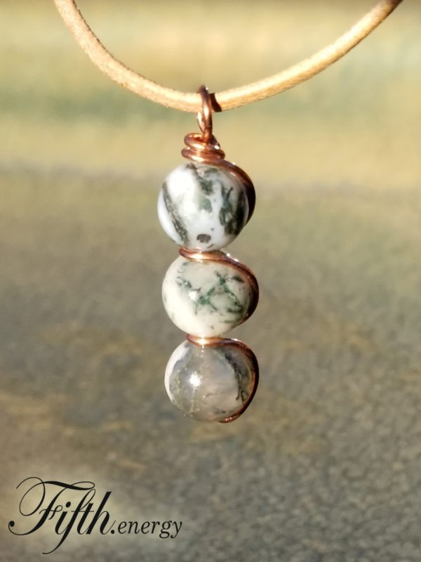 Tree Agate Pendant Necklace Fifth Energy Jewelry