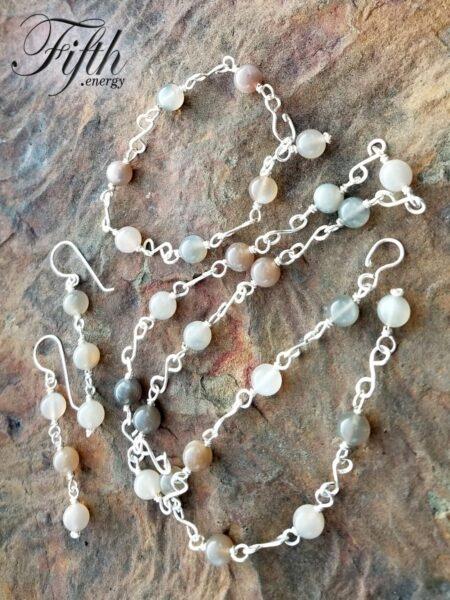 Moonstone Chain Fifth Energy Jewelry