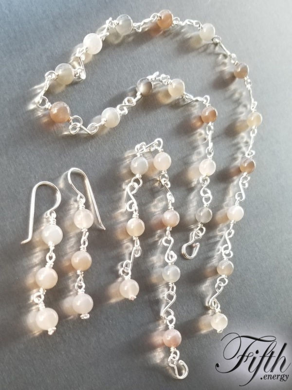 Moonstone Chain Fifth Energy Jewelry