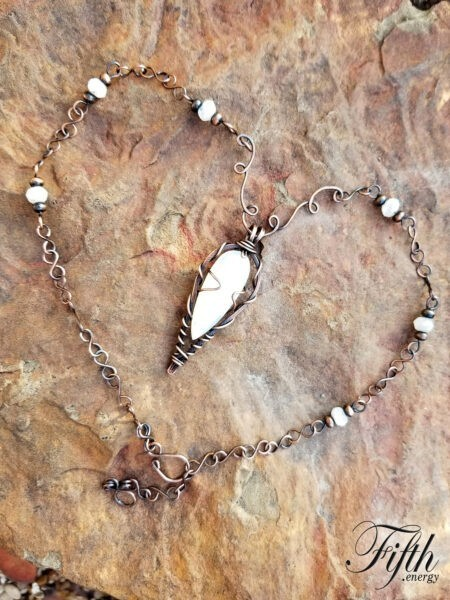 On Point Moonstone Necklace Fifth Energy Jewelry 1