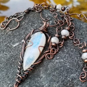 On Point Moonstone Necklace Fifth Energy Jewelry