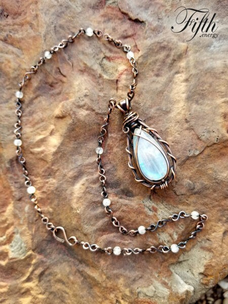 Teardrop Moonstone Necklace Fifth Energy Jewelry 2